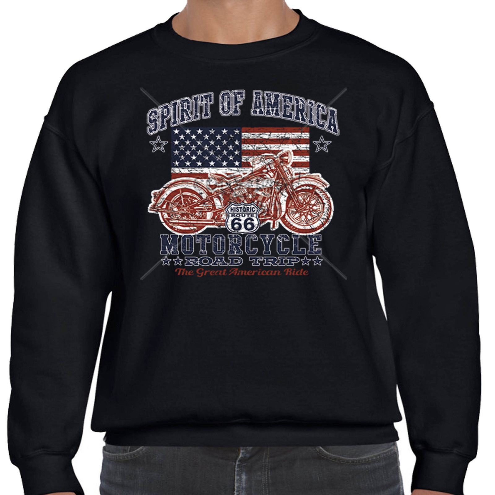 Biker sweatshirt american custom motorcycle vintage for Custom t shirts and hoodies