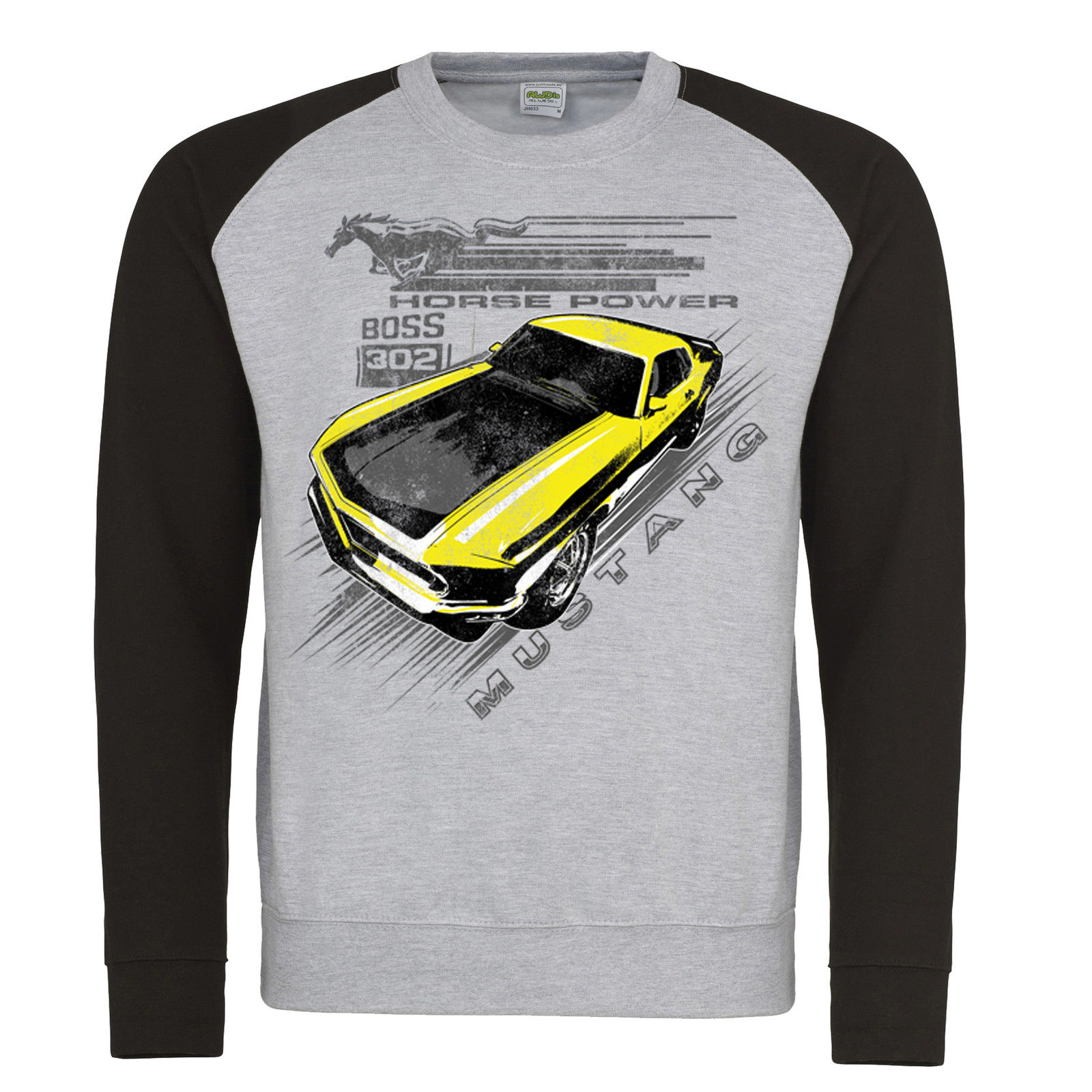 Ford Mustang Boss 302 Grill Hoody Hoodie American Licensed Classic Car Clothing
