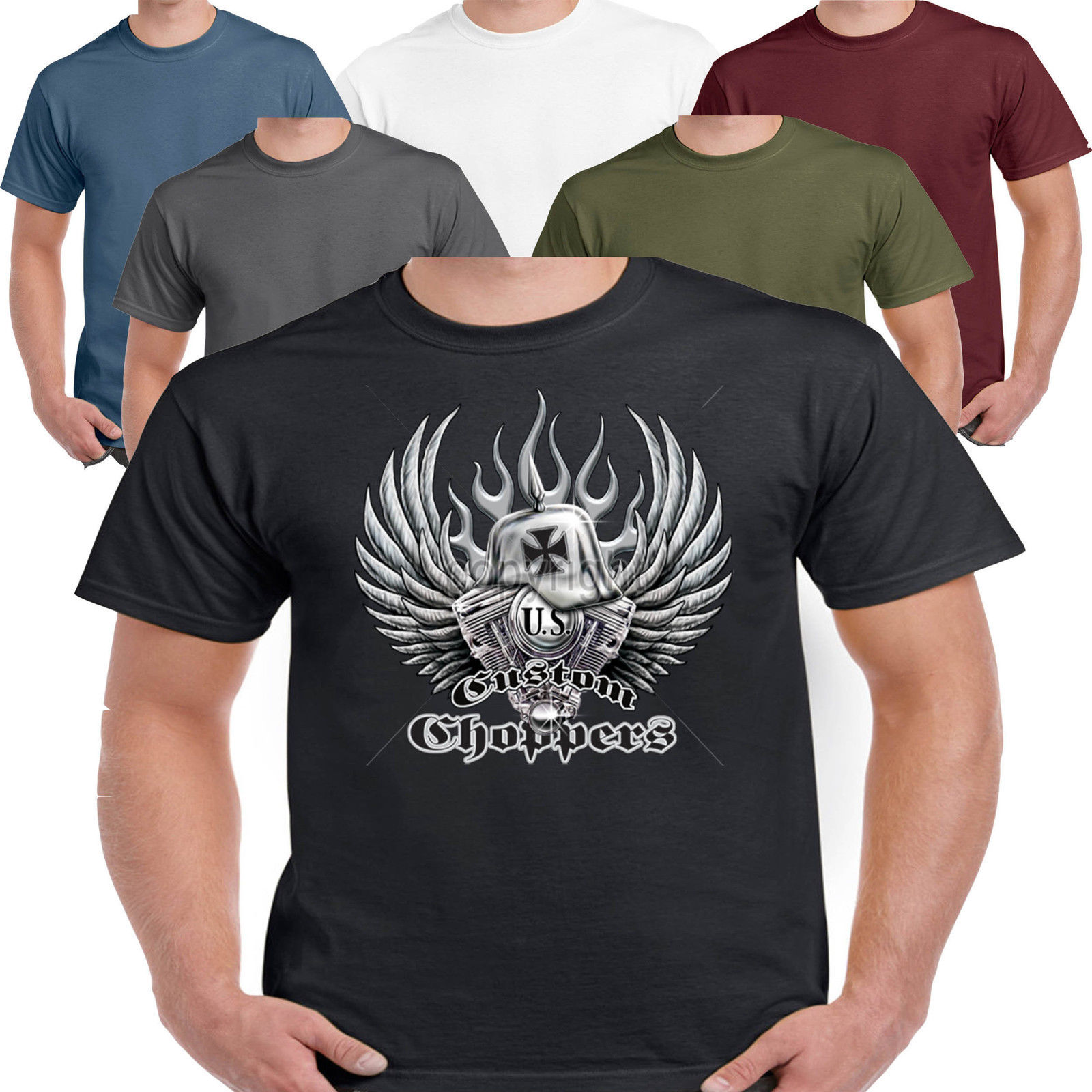 Mens biker t shirt custom bike vintage classic motorcycle for Custom t shirts and hoodies