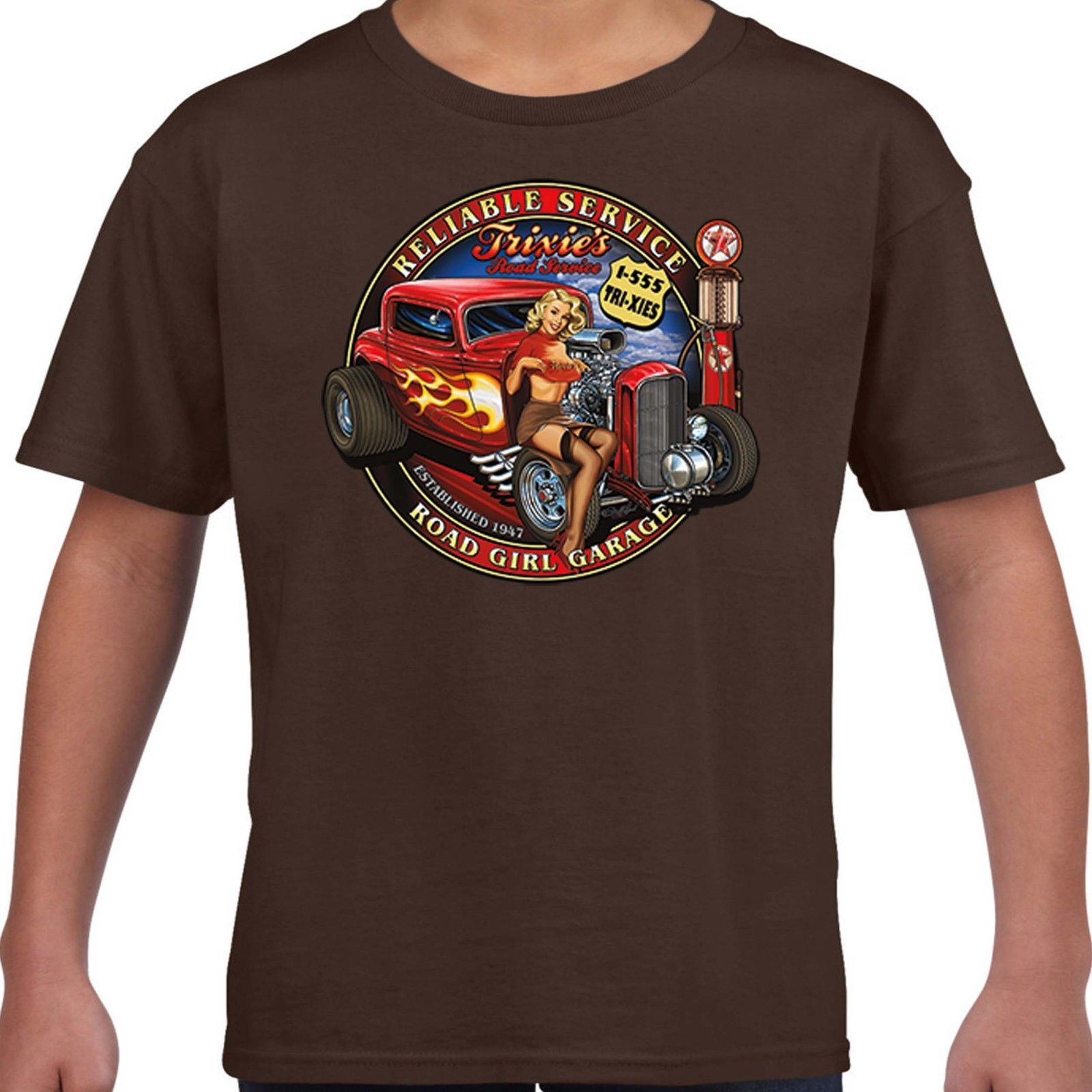 Hotrod 58 T Shirt Rat Rod Old Skool Garage American Classic Vintage V8 Car 43