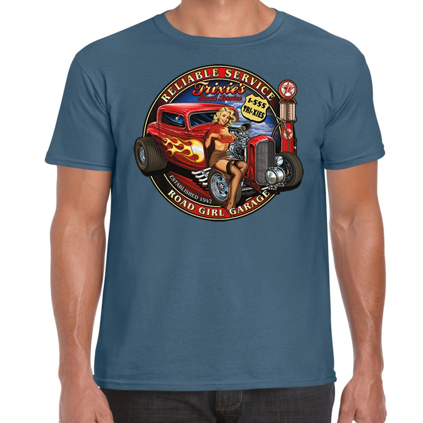 Hot Rod T Shirts >> Mens Hotrod 58 Hot Rod T Shirt American Custom Vintage Classic V8 Car Garage 263