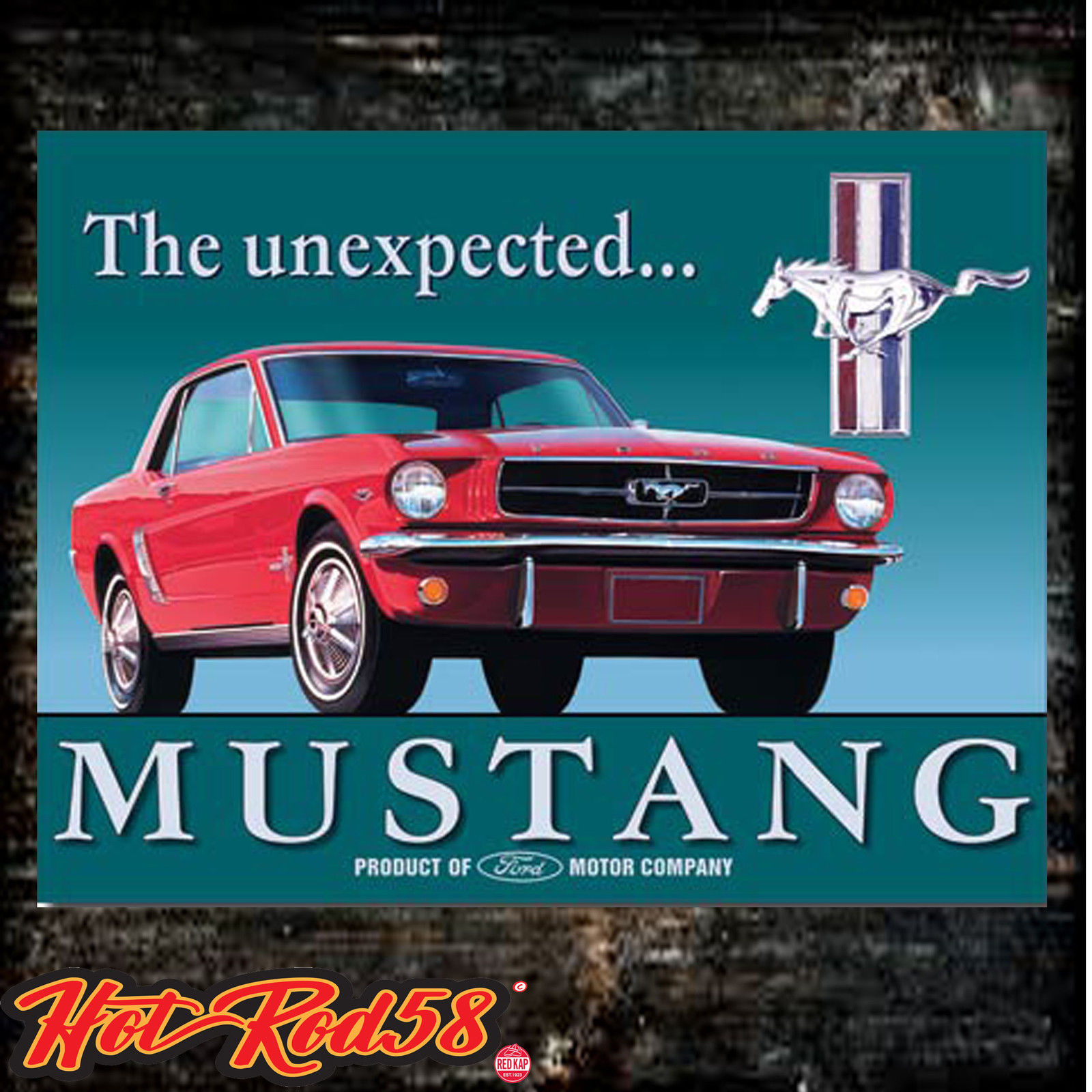 Ford Mustang Metal Tin Wall Sign Plaque Vintage Classic American Car ...