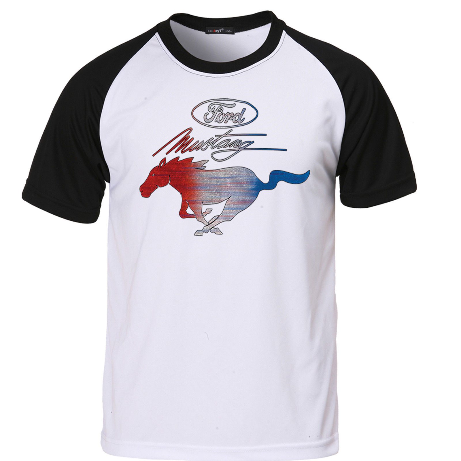 Mens Ford Mustang T Shirt Pony Logo Genuine American Classic Muscle