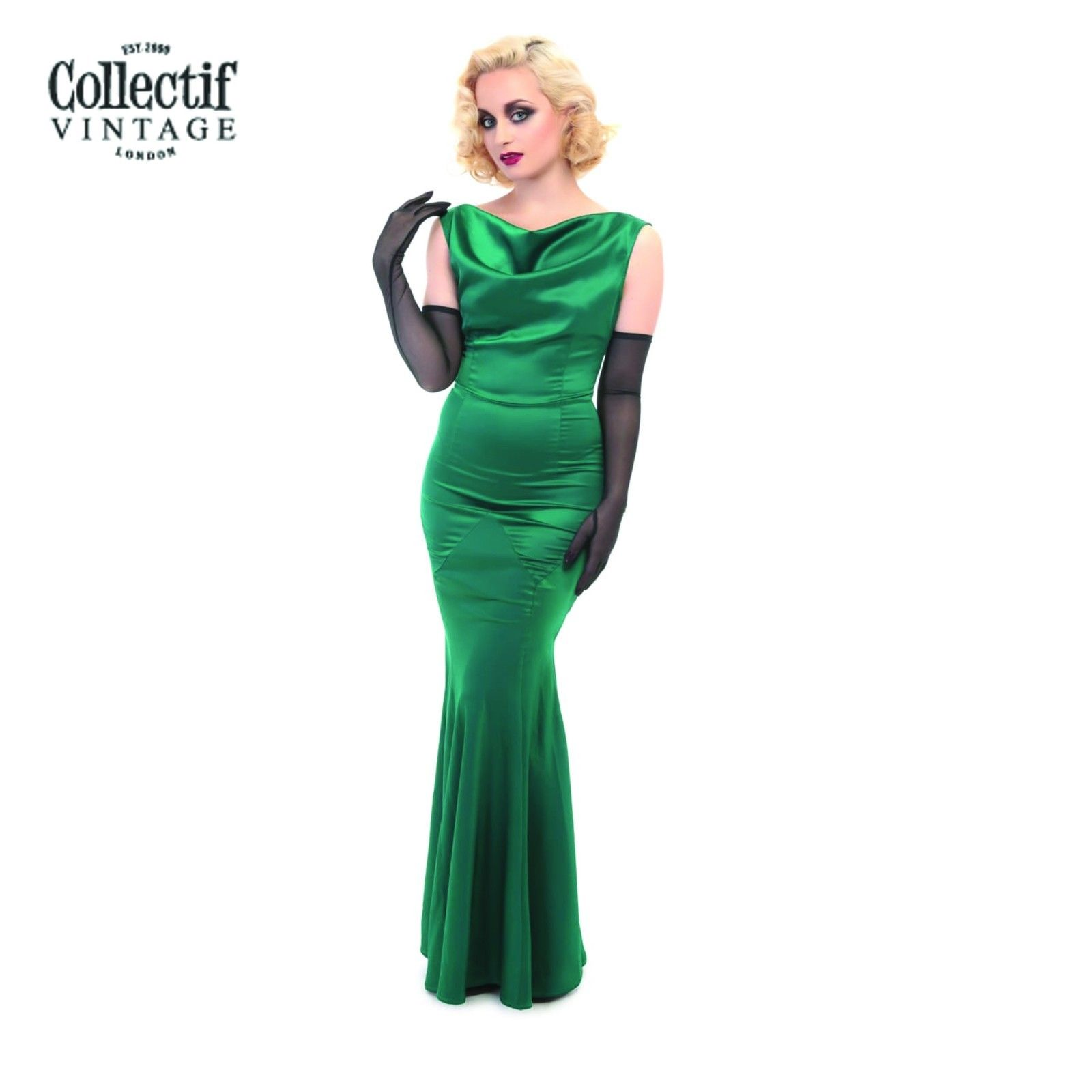 Collectif fish tail dress 1930\'s Style Classic Vintage Luxury Dinner ...