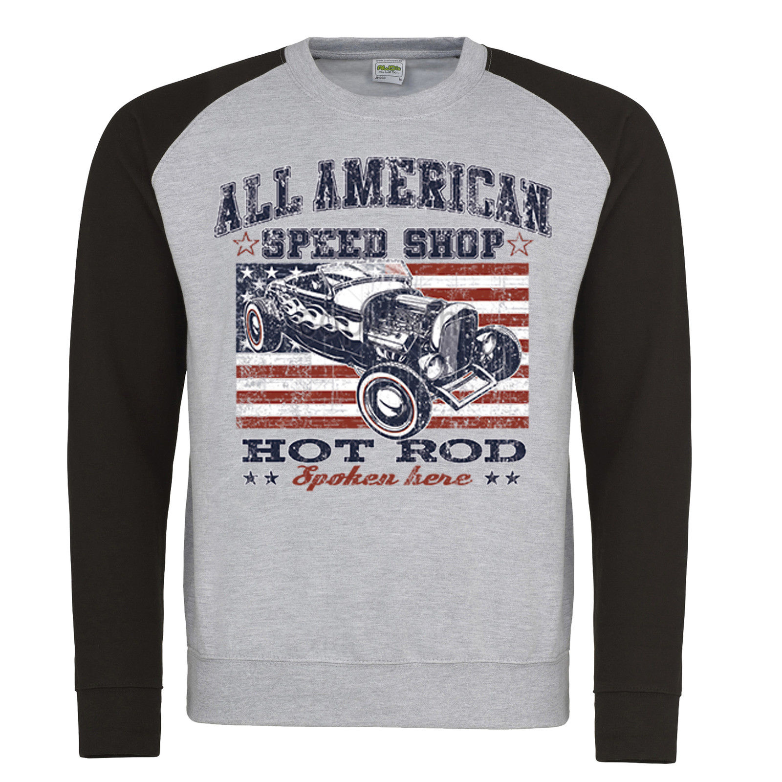 0dd1c20bd Hotrod 58 Sweatshirt Speed Shop Garage Vintage Classic Car Retro Kustom 213