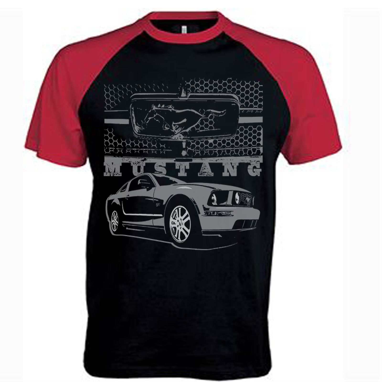 Mens Ford Mustang T Shirt Boss 302 Grill Pony American Classic Muscle Car Shirts
