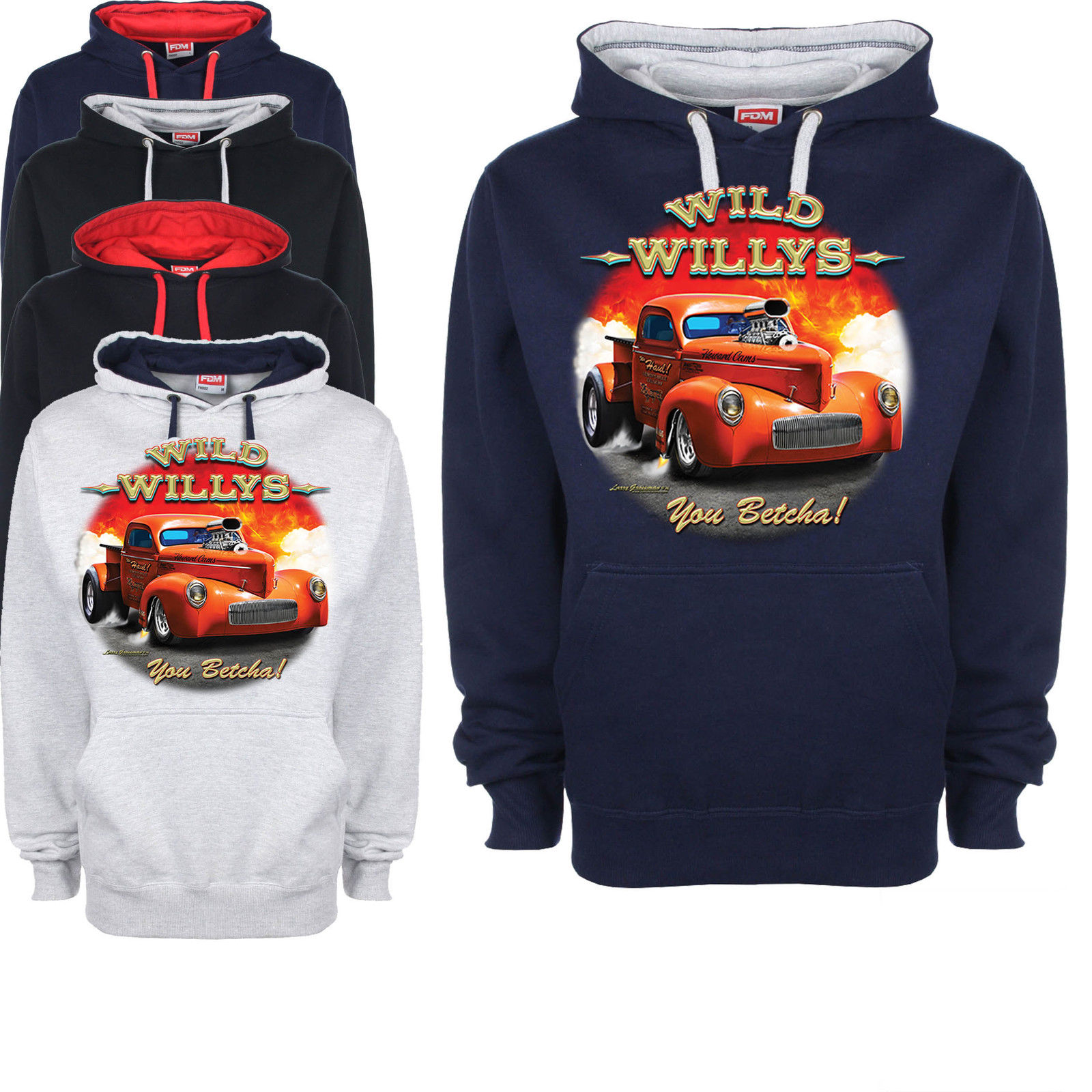Hotrod hoodie custom drag racing race american pick up for Custom t shirts and hoodies