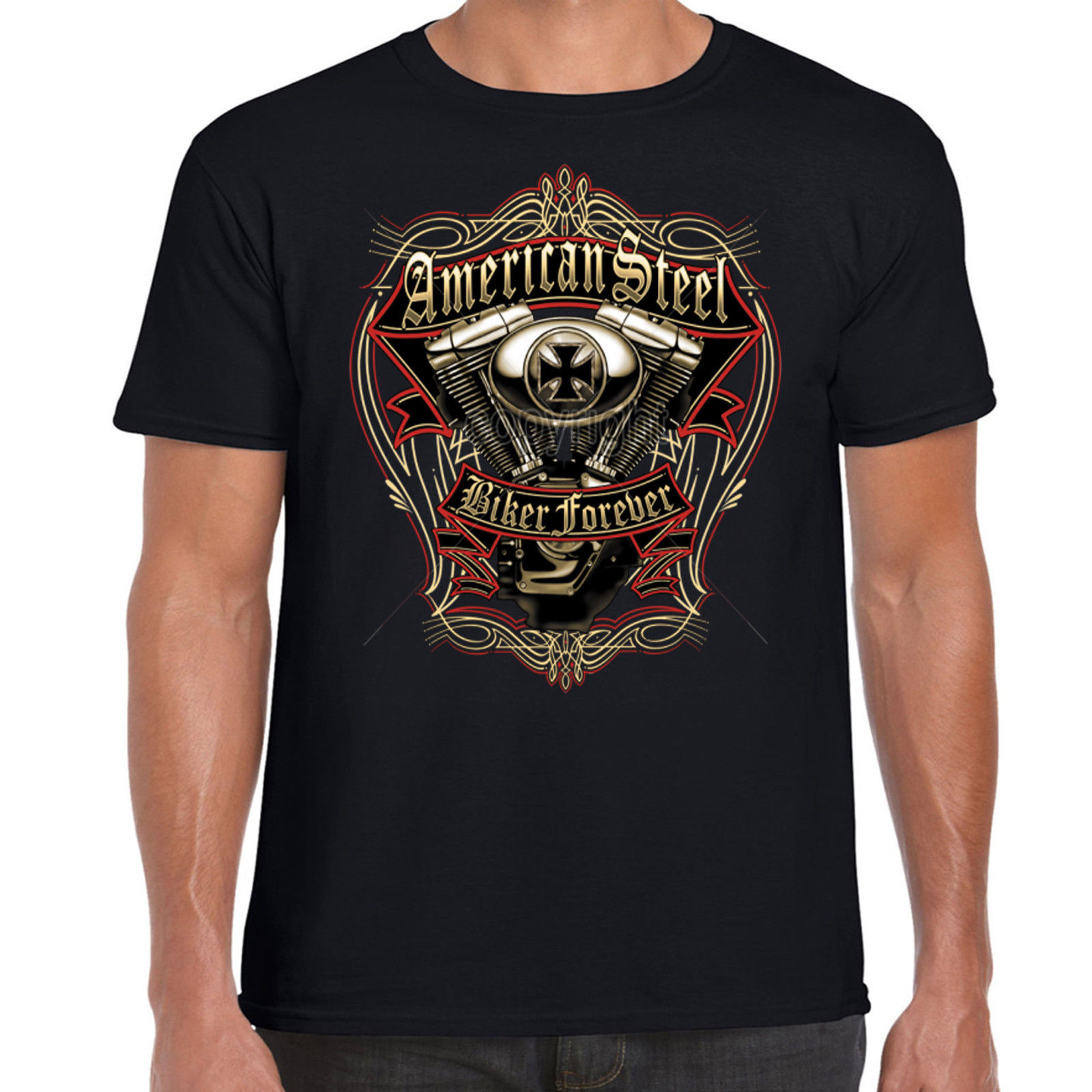 Motorcycle motorbike biker t shirt custom vintage classic for Custom suits and shirts