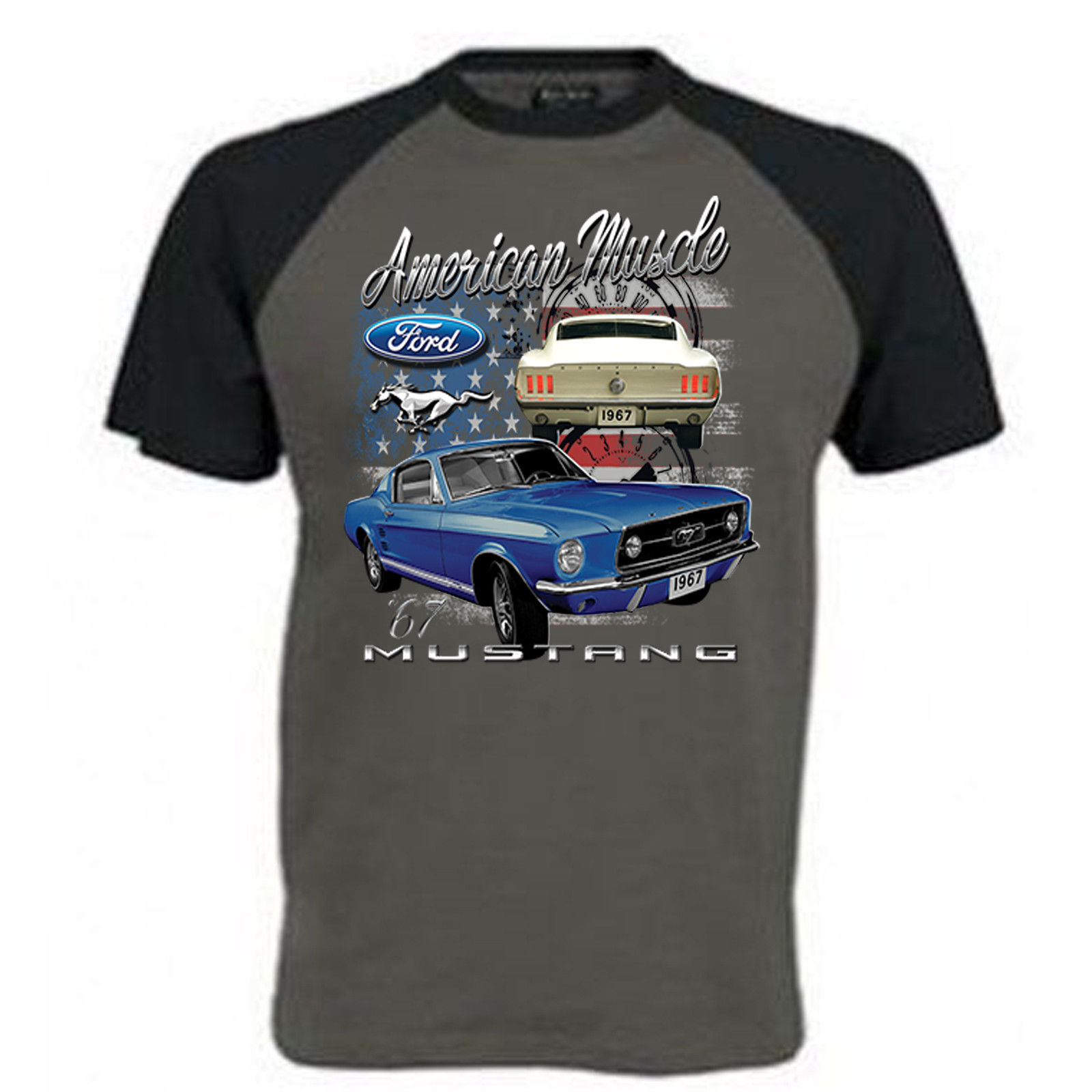 Ford Mustang American Muscle Licensed T-Shirt