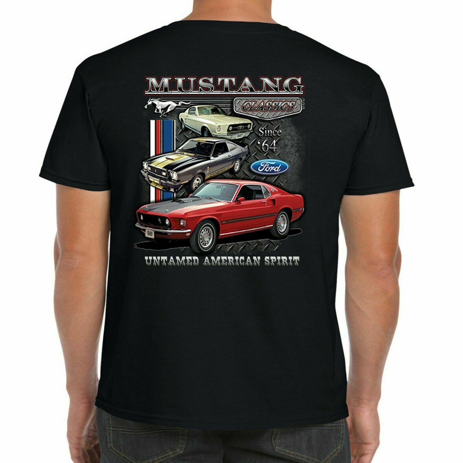 2011 Ford Mustang American Muscle Car Classic Design Tshirt NEW